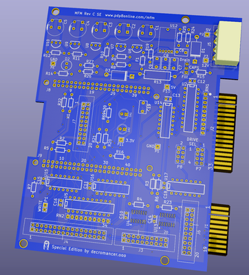 3D render of the MFM Emulator Rev C Special Edition board